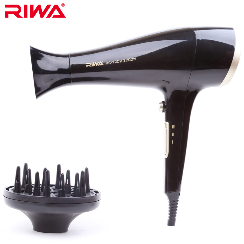 RIWA Light Weight Handle Hair Dryer 2200W High Power Hairdryer Styler Diffuser Styling Tool Low Noise