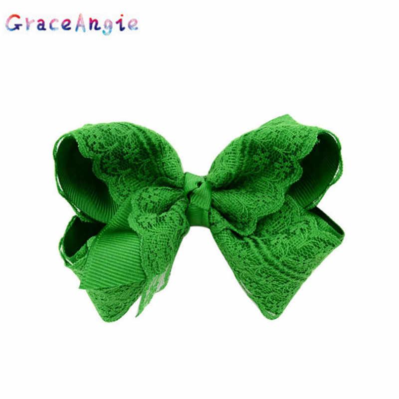 GraceAngie 1 шт. кружева пузырь цветок милый сладкий Стиль разноцветное детское шпилька лук для маленькой девочки
