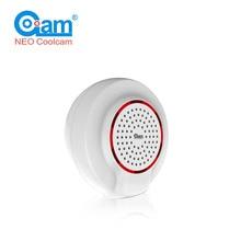 НЕО Coolcam NAS-AB01Z Z-Wave беспроводной сирена Датчик Совместимость с Z волна плюс датчик сигнализации домашней автоматизации сигнализации