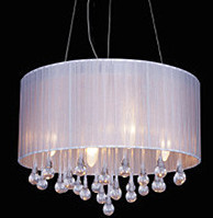 ФОТО Modern brief fashion crystal Chandeliers lighting LED cloth Chandelier light