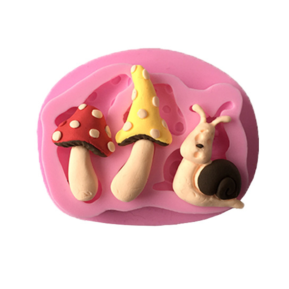 Nice 3D Fairy House Silicone Molds Flower Leaf Lovely Snail Mushroom Fondant Chocolate Candy Mold Cake Decorating Tools Baking