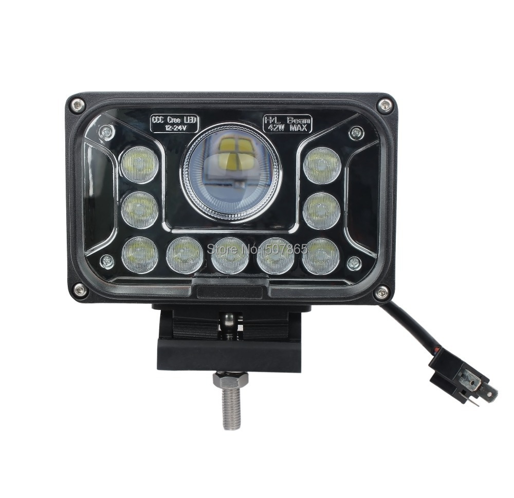 Led Lights Utility Tractor : Quot inch led work light w for tractor boat offroad