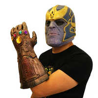 Thanos Glove Masks Infinity Gauntlet Gloves Cosplay Movie Latex Mask Prop Set