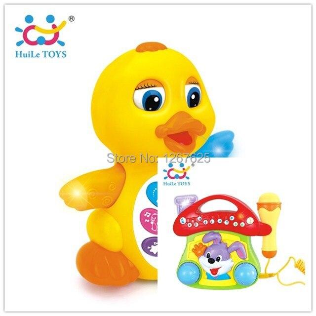 ФОТО Brinquedos Bebe Educativos Music Jukebox Electricos EQ Swing Duck Free Shipping Huile Toys 808 & 668
