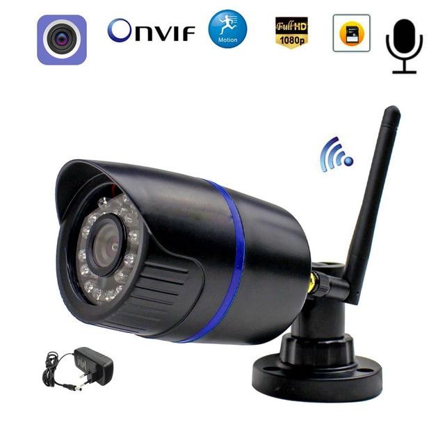 CamHi WIFI IP güvenlik kamerası ses kaydı 1080P 960P 720P ağ 2.0MP kablosuz kamera Onvif su geçirmez IP kamera TF kart depolama
