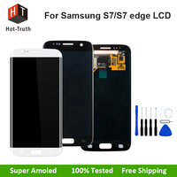 E Trust 100 Tested Super AMOLED For Samsung Galaxy S7 G930 Touch Screen Digitizer Assembly Phone