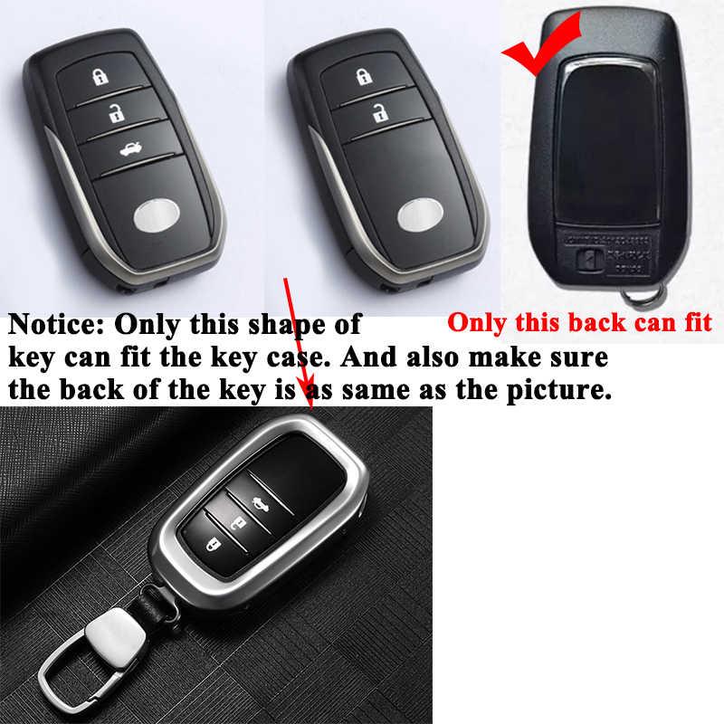 1 pc SEEYULE housse de clé de voiture avec porte-clés Shell protéger porte-clés stockage style accessoires de voiture pour Toyota RAV4 Alphard