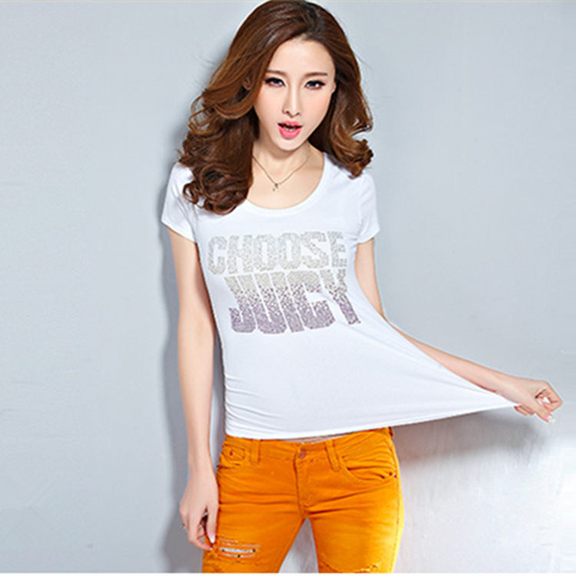 Hot Womens T Shirt For Teen Girls Summer Style Plus Size Sexy T Shirt Cotton