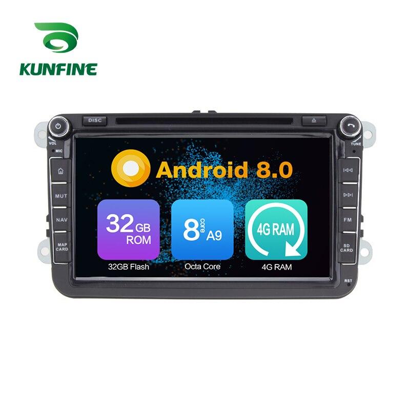 Octa Núcleo 4 GB de RAM Android 8.0 Car DVD GPS Navigation Multimedia Player Som Do Carro para VW GOLF POLO PASSAT JETTA TIGUAN TOURAN