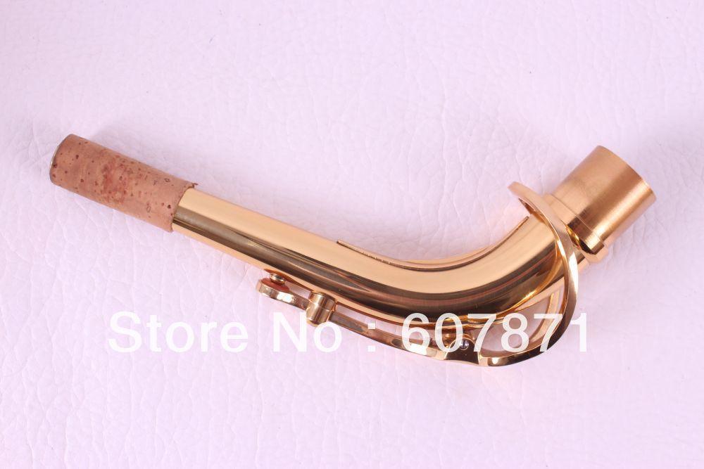 2pcs high quality New Alto saxophone neck gold lacquer depiction