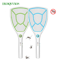 Hot Mosquito Racket Multifunction Rechargeable LED Light Garden Pest Control Insect Bug Bat Wasp Zapper Fly