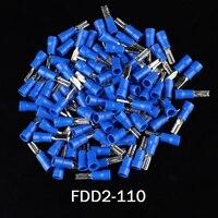 1000 قطعة الأزرق 2.8 مللي متر FDD2 110 16 14 AWG الإناث المجرف معزول سريع قطع سلك محطات تجعيد طرفية موصل نهايات طرفية    -