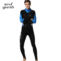 S75 Men The Conjoined Long Sleeve Diving Suit Beach Sunscreen Snorkeling Clothes With Cap Quick Drying