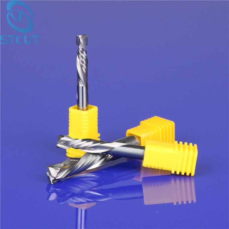 1 stück UP und DOWN-Cut Doppel Flöten Spirale Hartmetall Mühle Werkzeug Schneider CNC holz Router, kompression Holz router Bits
