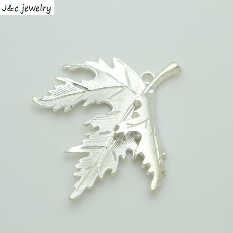 New Arrival 3 Pcs/lot Alloy Charms Pendant Leaves Silver Plated 55*47 Mm Jewelry Making Diy Charms Handmade Crafts 34170b Goods Of Every Description Are Available Jewelry Sets & More Jewelry & Accessories