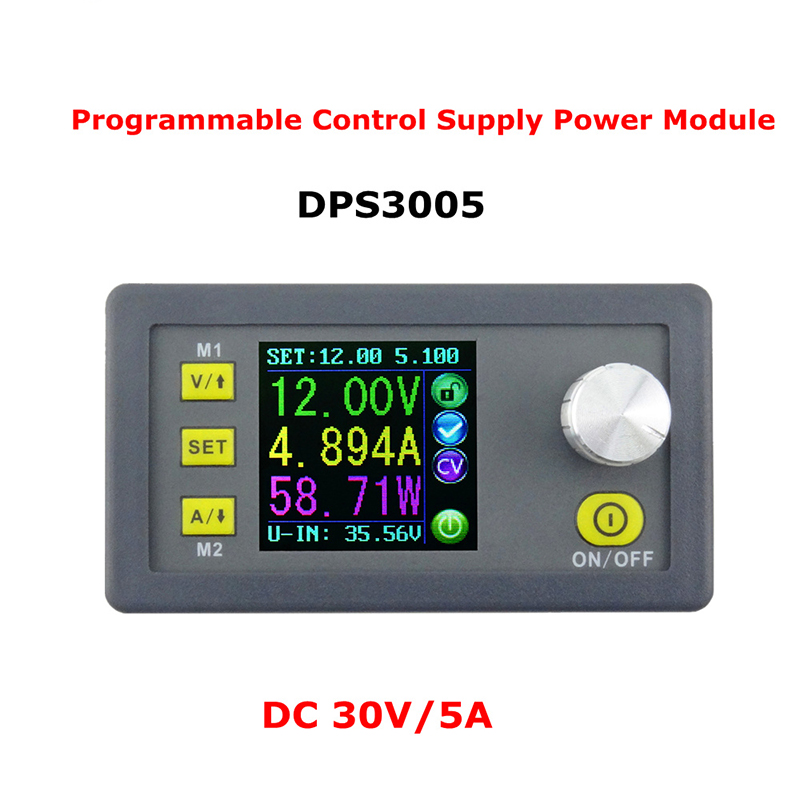 DPS3005 Constant Voltage Current Step-down Programmable Power Supply module buck Voltage converter color LCD Voltmeter dps5015 constant voltage current step down programmable digital power supply buck voltage converter color lcd voltmeter 15a