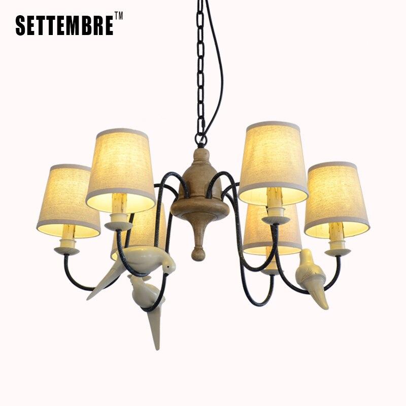 Vintage Chandelier Lighting Modern Ceiling Fixture Light Pendant Lamp White Bird Serials 1-14 Lights candelabro do 2 packs modern contemporary chandelier lighting crystal ball fixture pendant ceiling lamp 1 light e14