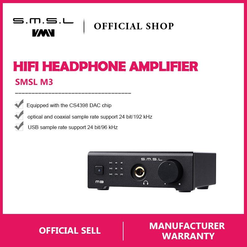 SMSL M3 USB DAC AMP Multi-funzione Ottica Coassiale Amplificatore Per Cuffie Portatile Alimentato Via USB Audio Decoder Portatile DAC Convertitore