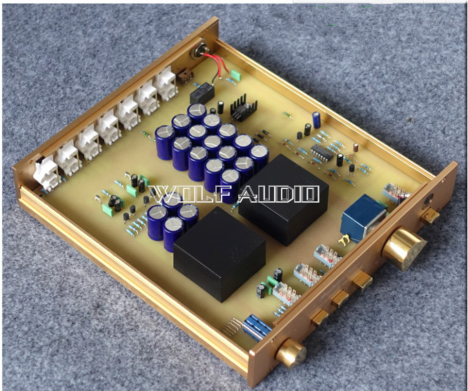 Finished High End Preamplifier Stereo HiFi Pre-Amplifier Monitor Based on FM155 Preamp pre end шорты pre end