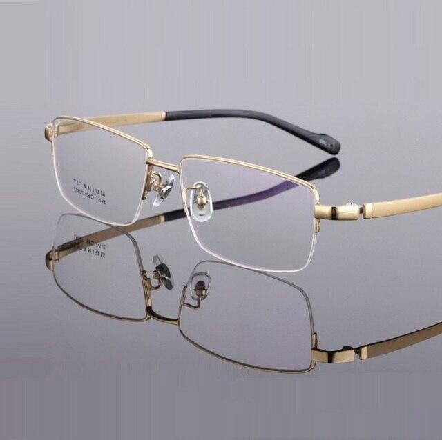 b831ab8e8 Largura-155 ultra light Pure titanium armações de óculos cara Grande homem  de negócios half
