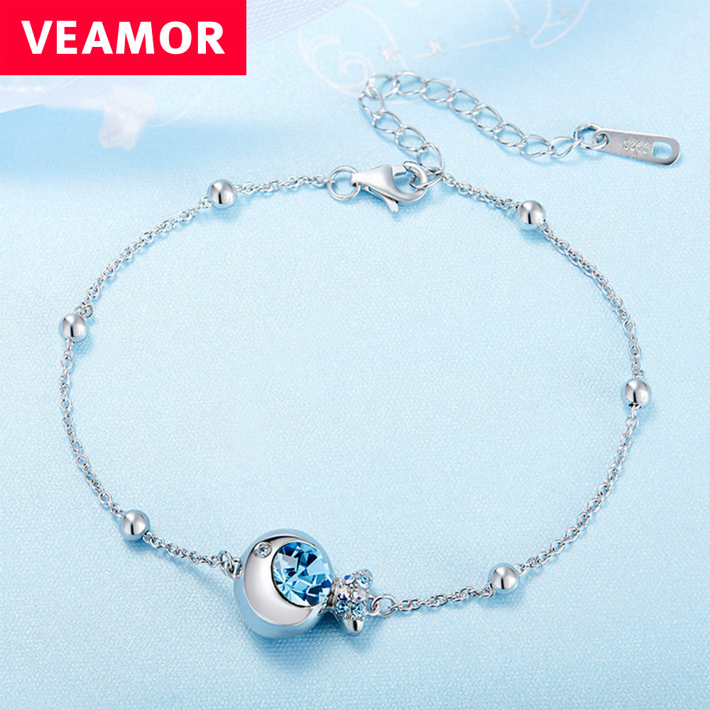 Veamor Clownfish Crystal Bracelet 925 Sterling Silver Bracelets For Women  Crystals From Swarovski Fashion Jewelry(