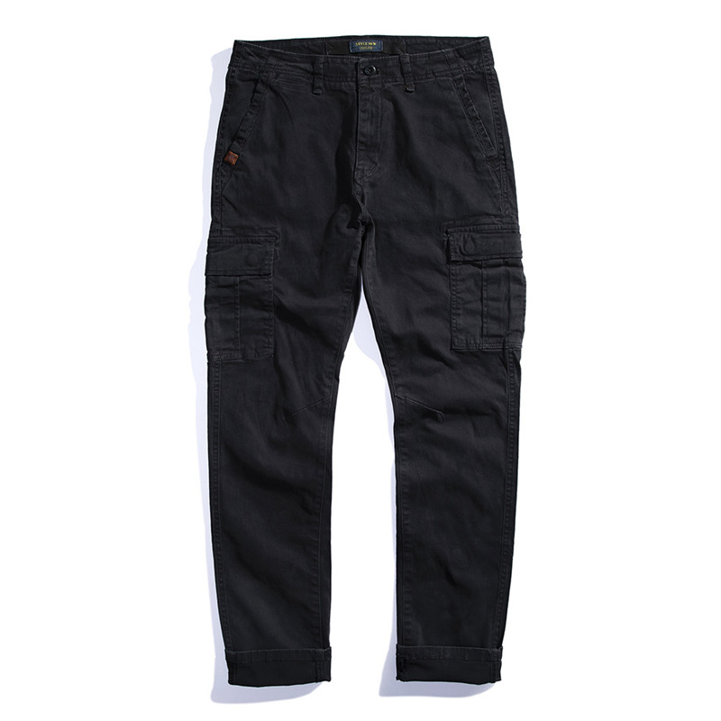 Men Straight Pants Outdoors Casual Cargo Pants Mens Plus Size Pant Multi Pocket Overall Spring High Quality Long Trousers 28-38