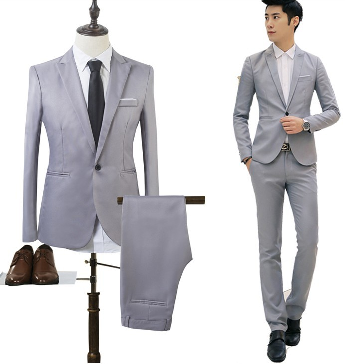MRMT 2019 Brand New Men's Jackets Casual Suit Two-piece Suit Solid Color For Male  Long-sleeved Jacket Blazer Suit Clothing