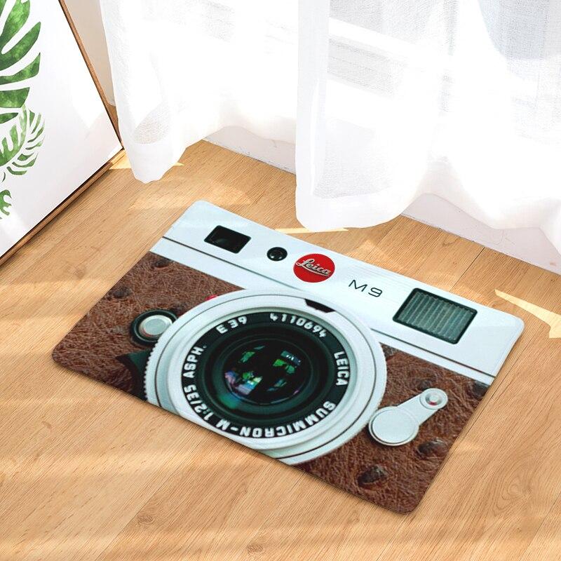 Camera Mats Anti Slip Floor Carpet 3D Tape Pattern Print Doormat for Bathroom Kitchen Entrance Rugs