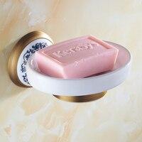 Copper soap dish bathroom shelf White copper soap dish soap dish soap box European bathroom accessories LO814446
