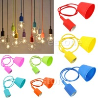 Color Knitting Hanging Wire Silicone E27 Screw Mouth Lamp Chandelier DIY Lamp Clothing Shop Bar Shop
