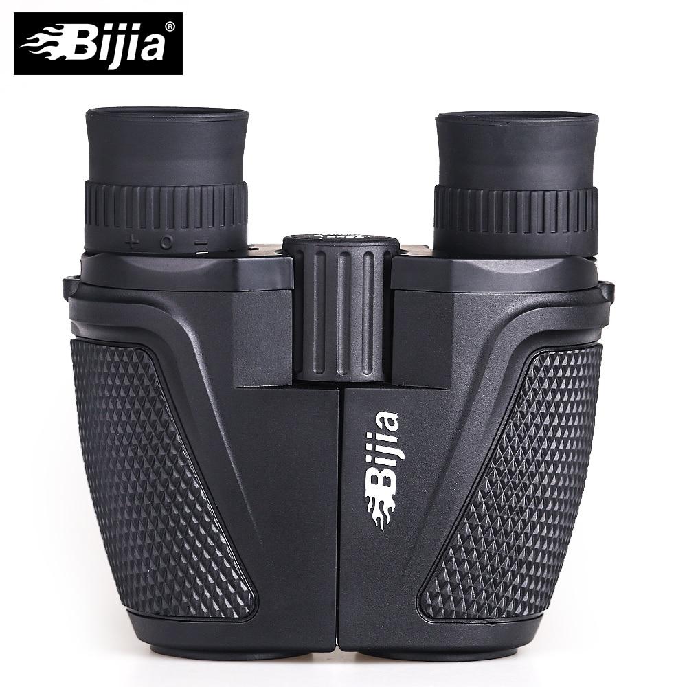 BIJIA 12x25 BAK4 prisma Porro Binocular portátil profesional telescopio binoculares para la caza de deportes vida impermeable