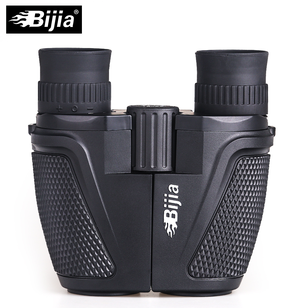 BIJIA 12x25 BAK4 Prism Porro Binocular Professional Portable Binoculars Telescope For Hunting Sports Living Waterproof bijia 20x nitrogen waterproof binoculars 20x50 portable alloy body telescope with top prism for traveling hunting camping