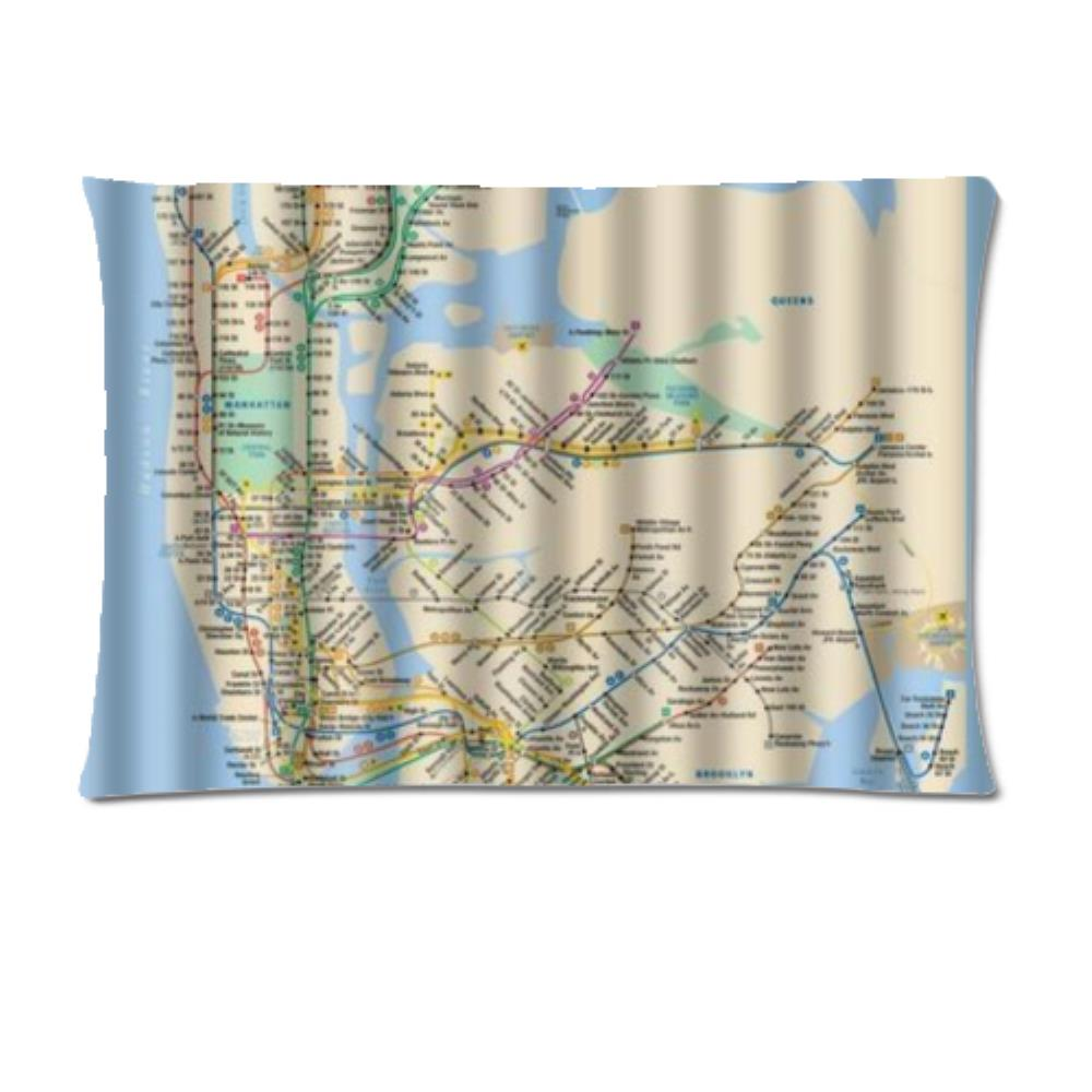 US $12 59 |Custom New York City Underground Tube Subway Map Custom Pillow  Case Square Pillowcases zipper one side-in Pillow Case from Home & Garden  on