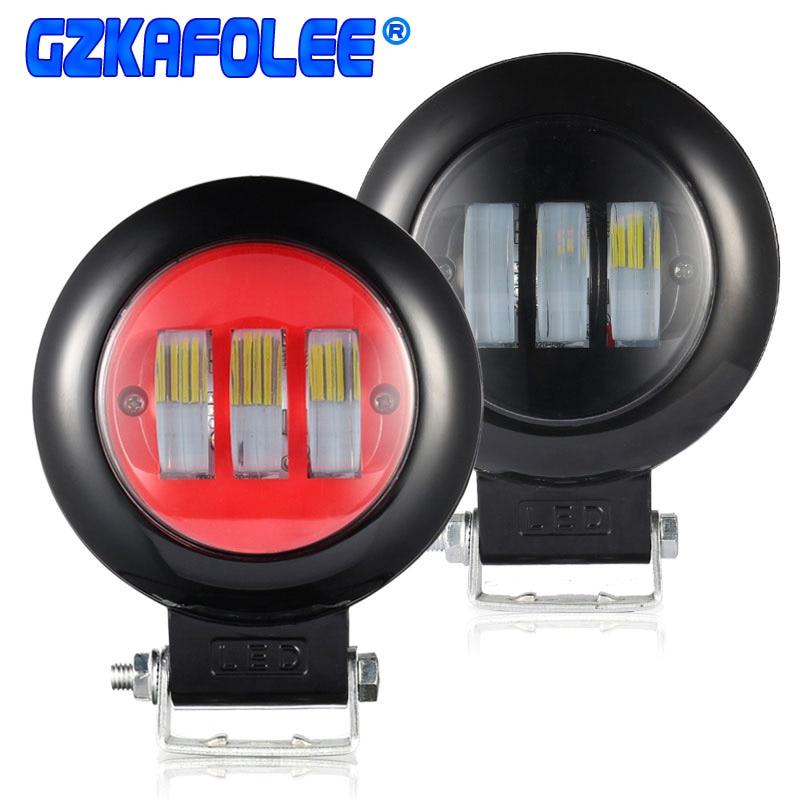 2x 4inch 18W CREE LED WORK LIGHT BAR SPOT//FLOOD OFFROAD UTE CAR BOAT DRIVING 30w