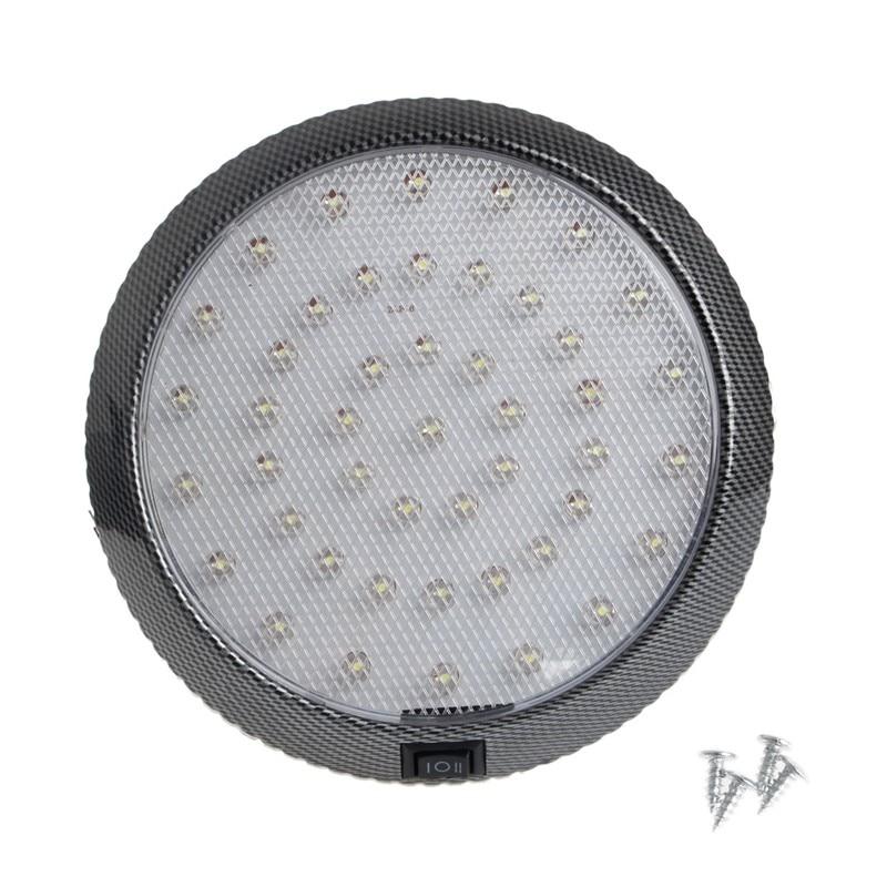 car vehicle 12v 46 led interior indoor roof ceiling dome light white lamp auto reading lights. Black Bedroom Furniture Sets. Home Design Ideas