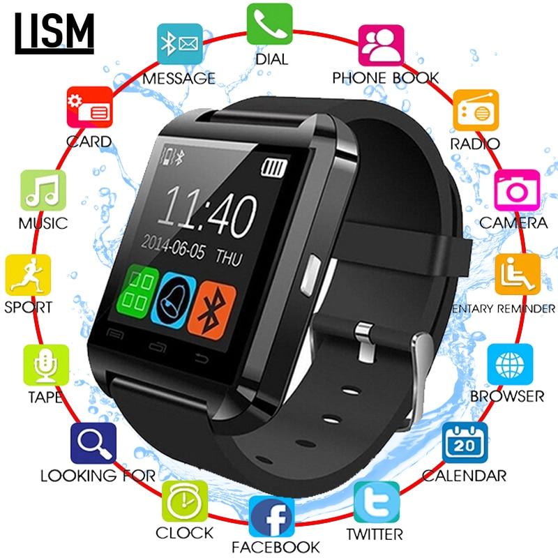 Novo smartwatch bluetooth relógio inteligente u8 para iphone ios android telefone inteligente usar relógio wearable dispositivo smartwach pk gt08 dz09 a1
