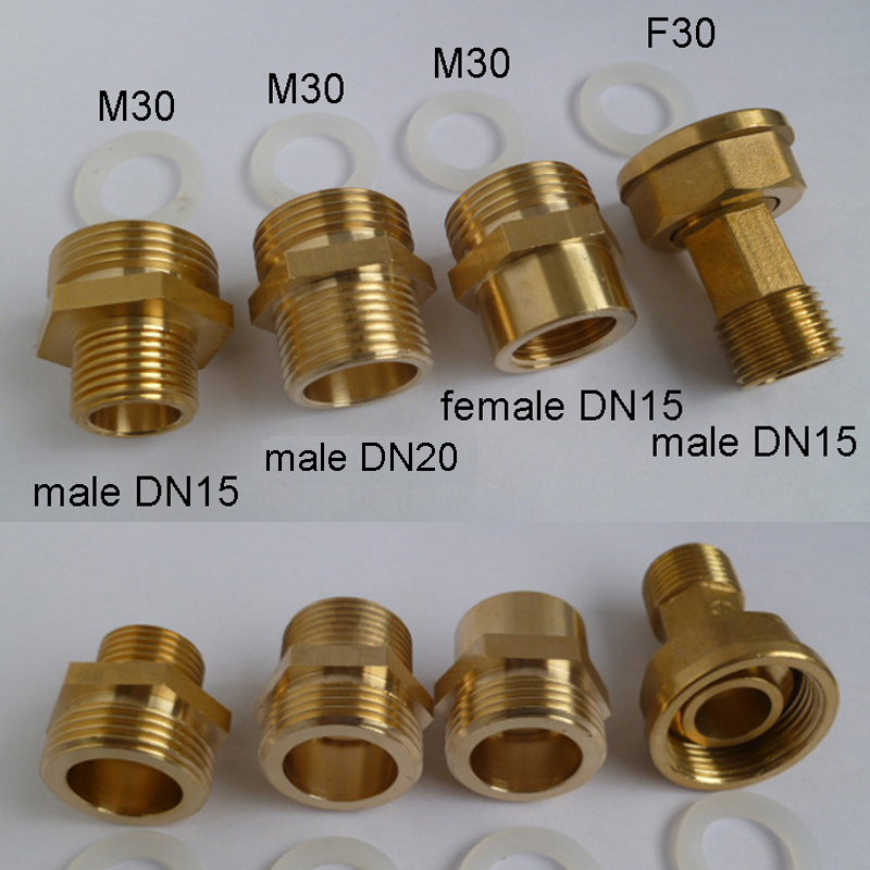 1pc Factory M30 Gas Table Brass Pipe Fittings Copper Faucet Aerator Adapter For Male Female G1/2 M32 G3/4
