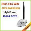 Новый 2014 Высокая Мощность ALFA AWUS036H 1000 МВТ WIFI Беспроводной Сети USB Адаптер 5DB Антенна с Realtek3070L, Оптовые Dropshipping