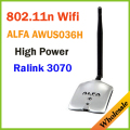 New 2014 High Power ALFA AWUS036H 1000MW WIFI Wireless USB Network Adapter 5DB Antenna with Realtek3070L,Wholesale Dropshipping