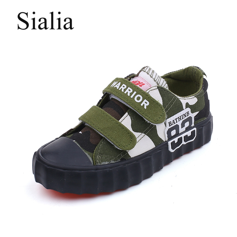 Sialia Camouflage Kids Shoes For Boys Casual Shoes Girls Sneakers Student School Baby Toddler Footwear Children Shoes Rubber PU