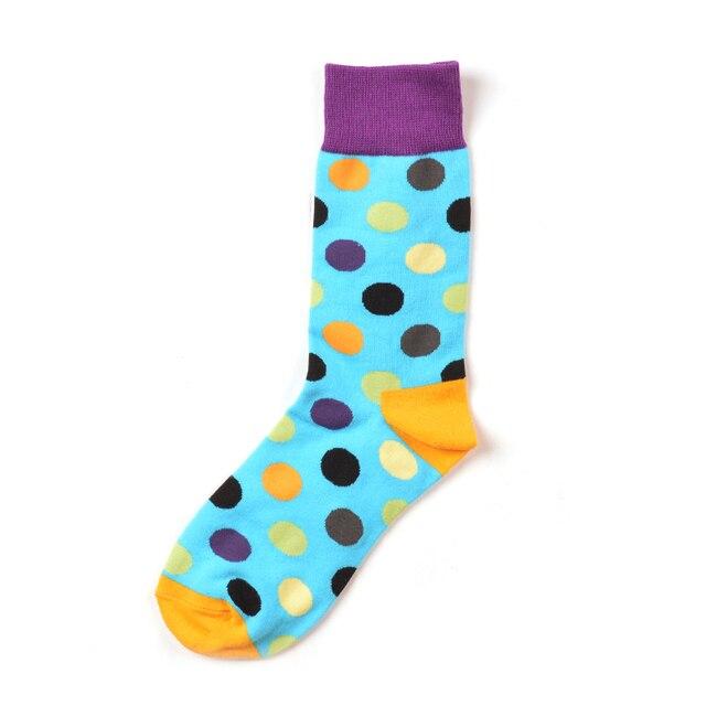 Jhouson 1 pair Colorful Men's Cotton Crew Funny Socks Watermelon Corn Spaceman Pattern Novelty Skateboard Socks For Gifts 4