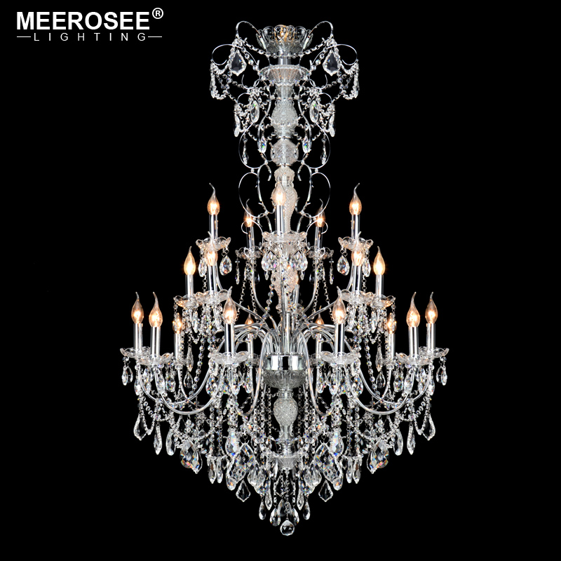 Project Lamp Large Modern Chandelier Stair Long Candle Crystal Chandelier Fixture Staircase Lighting Stairs Long for Hanging