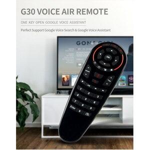 Image 3 - Wechip G30 קול שלט רחוק 2.4G Wireless אוויר עכבר מיקרופון גירוסקופ IR למידה עבור אנדרואיד טלוויזיה תיבת HK1 H96 מקסימום X96 מיני