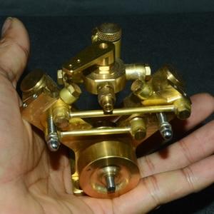 Image 1 - 8.5 × 8.2 × 7.4 センチメートル v 字型ミニ純銅蒸気エンジンモデルなしボイラークリエイティブギフトセットキッズ大人のための高品質