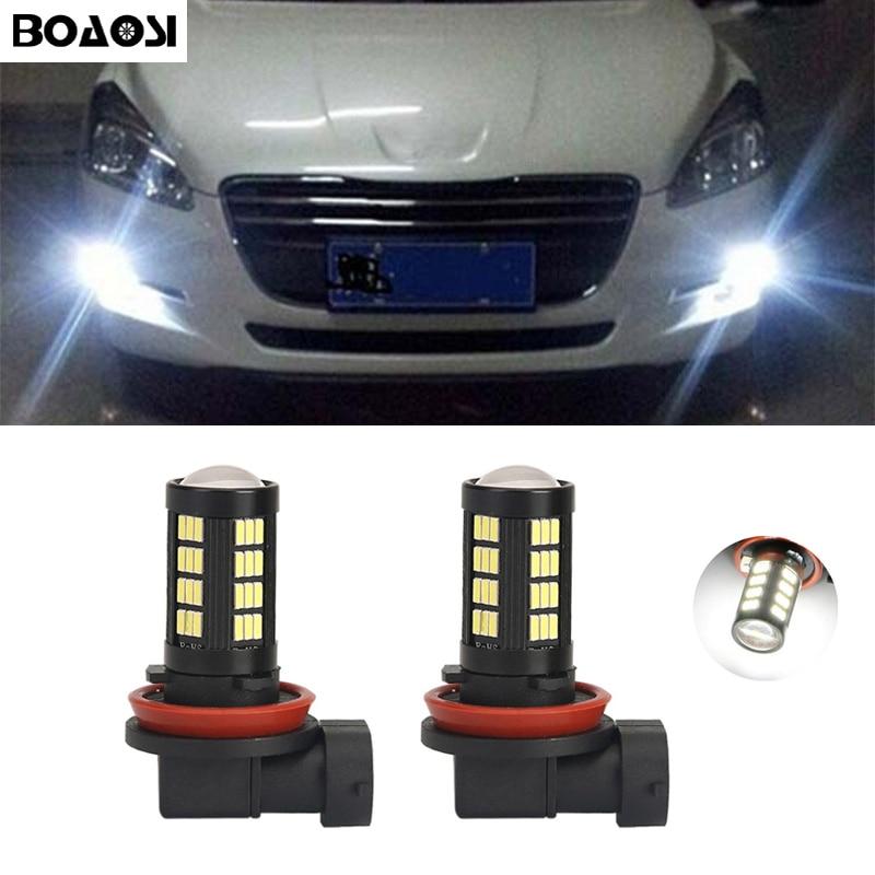 2x H11 H8 LED-billys LED-pærer Tågelygter kørelampe til Peugeot - Billygter