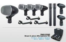 Profissional Instrumento Musical drum mic kit microfone tambor microfone conjunto microfone com 2 MK6