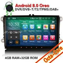Erisin ES7818V 9 дюймов Android 8,0 Восьмиядерный автомобильный dvd-плеер android DAB OBD wifi 3g для PASSAT CC(от 2008 до 2013