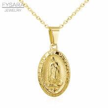 b41de7f74ff3 FYSARA joyería religiosa de Señora de Guadalupe Collar para los hombres y  las mujeres Christian Diosa virgen María COLLARES DE A..