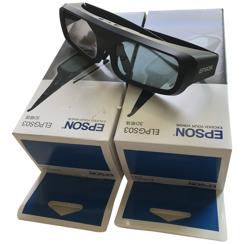 Original Epson ELPGS03 Active 3D GlassesFor Projector TW5200 9200 TW6200 TW8200 Epson Home Cinema HDR 4K