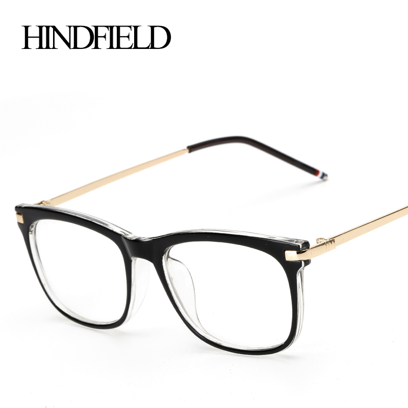HINDFIELD 2016 Fashion Black Plastic Myopia Glasses Frame Women Brand Clear Lens glasses Frame Oculos font